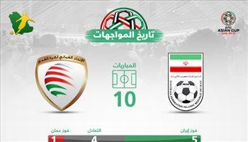 كأس آسيا| تاريخيا.. عمان تبحث عن أول انتصار أمام إيران منذ 20 عاما