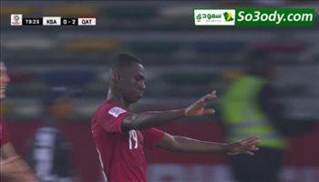 الهدف الثاني  لقطر في مرمى السعودية .. كأس اسيا