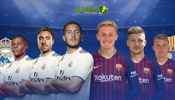 """بـ""""صفقات المستقبل"""" واعتزال ميسي.. من أقوى ريال مدريد أم برشلونة؟"""