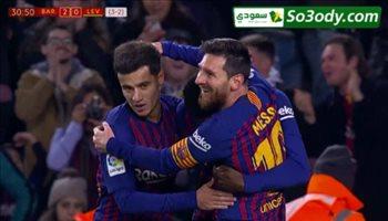 اهداف مباراة .. برشلونة  3-0  ليفانتي .. كاس اسبانيا