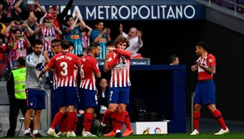 جريزمان يقود هجوم أتلتيكو مدريد أمام فالنسيا