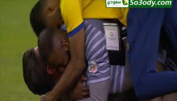 فرحة لاعبي النصر بعد إطلاق صافرة التتويج بالدوري