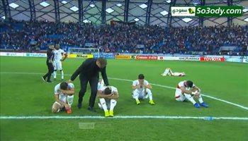 لحظة بكاء لاعبي الاردن عقب الخروج من كأس أسيا