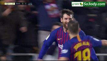 اهداف مباراة .. برشلونة  3 - 1 ليجانس .. الدوري الاسباني