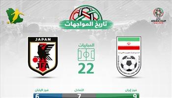 """تاريخيا.. إيران """"تتفوق"""" واليابان تعيد ذكريات """"الملك كازو"""" في كأس آسيا"""