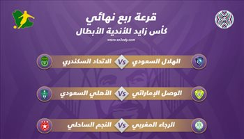 كأس زايد| قرعة متوازنة للهلال والأهلي.. ومواجهة نارية لأندية المغرب العربي