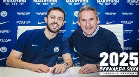 رسميا.. مانشستر سيتي يجدد تعاقده مع برناردو سيلفا