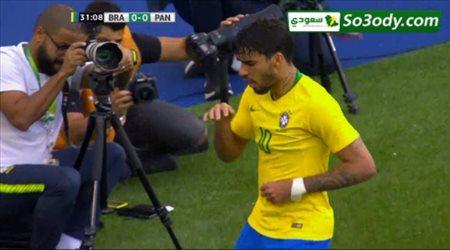 اهداف مباراة .. البرازيل 1 - 1 بنما .. مباراة ودية .. مباراة ودية