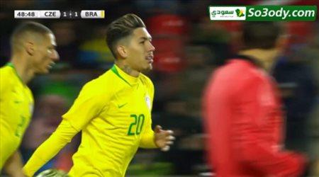 اهداف مباراة .. التشيك 1 - 3 البرازيل .. مباراة ودية