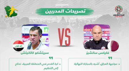 تصريحات المدربين| سانشيز مواجهة العراق كالنهائي.. وكاتانيتش ينتقد الكرة العربية