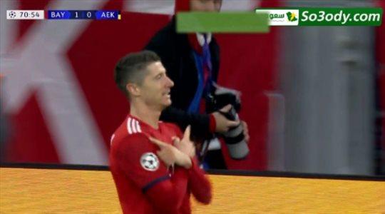 اهداف مباراة ..  بايرن ميونيخ 2 - 0 ايك اثينا .. دوري ابطال اوروبا