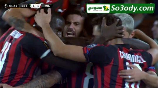 اهداف مباراة .. ميلان 1 - 1 ريال بيتيس .. الدوري الاوروبي