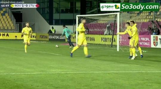 اهداف مباراة .. رومانيا 3 - 0 ليتوانيا ..  دوري الأمم الأوروبية