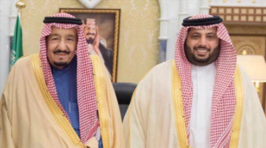 تركي آل الشيخ يشكر خادم الحرمين الشريفين على بناء المدينة الرياضية في العراق