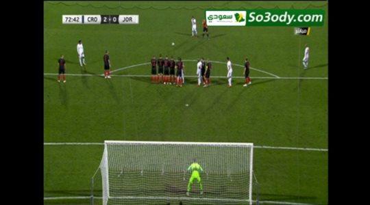 أهداف مباراة .. كرواتيا 2 - 1 الأردن . مباراة وديه