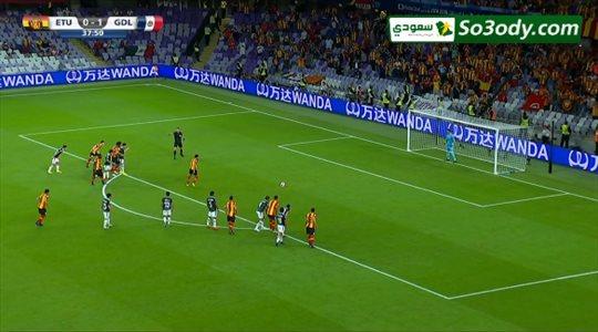 الترجي يحرز هدف التعادل له من ضربة جزاء في شبك ديبورتيفو .. كأس العالم للاندية