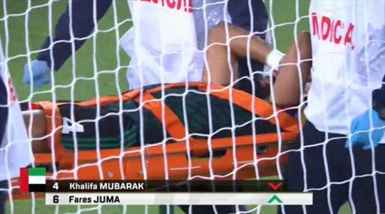 """تطورات الإصابة """"المروعة"""" لنجم منتخب الإمارات"""