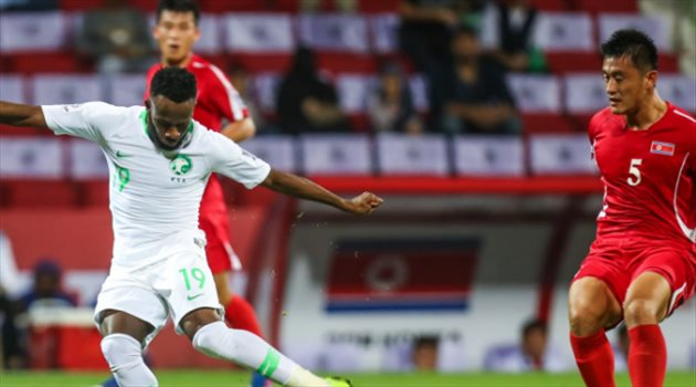 فهد المولد في مباراة السعودية وكوريا الشمالية