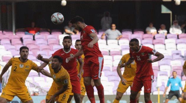 أنس بن ياسين يسجل هدف الأردن في أستراليا