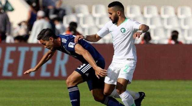 محمد البريك في مباراة السعودية واليابان