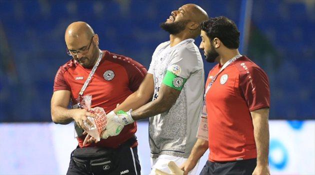 التشخيص المبدئي لإصابة مبولحي في مباراة الشباب