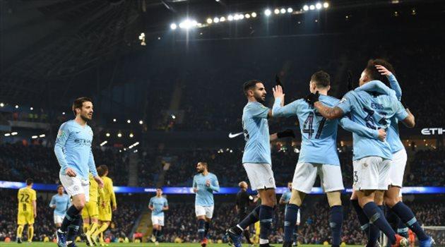 رياض محرز يقود هجوم مانشستر سيتي أمام سوانزي في كأس الاتحاد