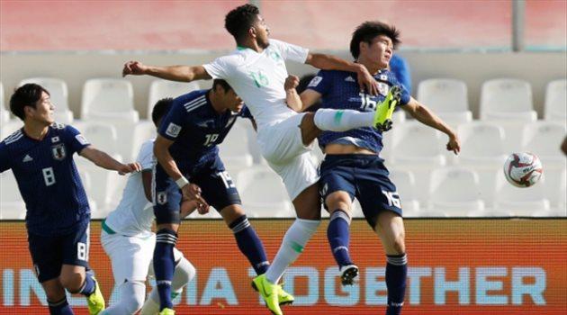 هتان باهبري في مباراة السعودية واليابان