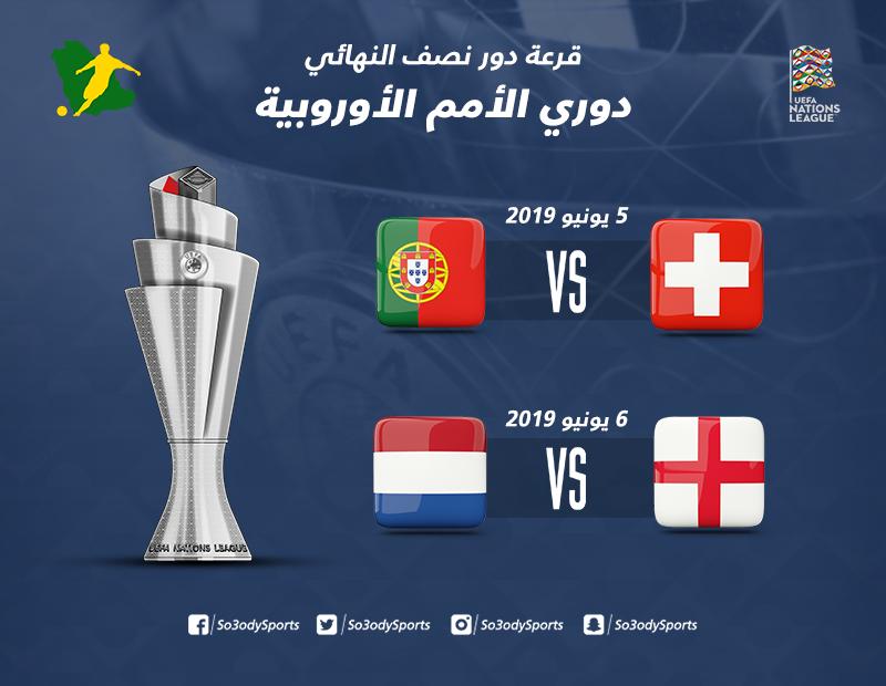 قرعة دوري الأمم الأوروبية  قمة نارية بين إنجلترا وهولندا في نصف النهائي