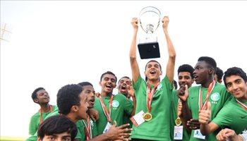 صور| ناشئو الأخضر يتسلمون كأس غرب آسيا