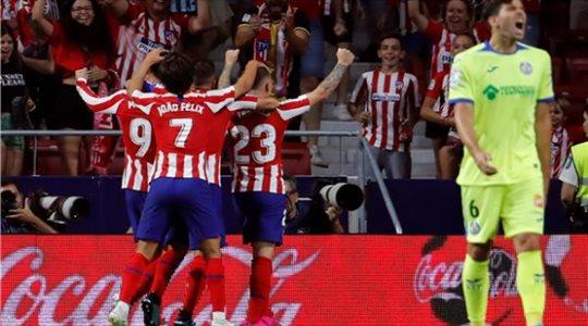 فيديو| في لقاء البطاقات الحمراء.. أتلتيكو مدريد يفوز بصعوبة على خيتافي بالدوري الإسباني