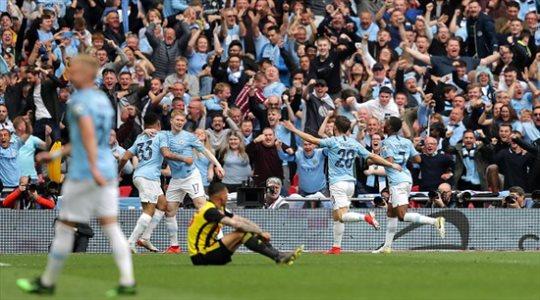 فيديو.. مانشستر سيتي يدك شباك واتفورد ويتوج بلقب كأس الاتحاد الإنجليزي