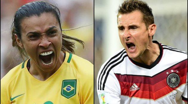 مارتا تعادل إنجاز كلوزه في كأس العالم
