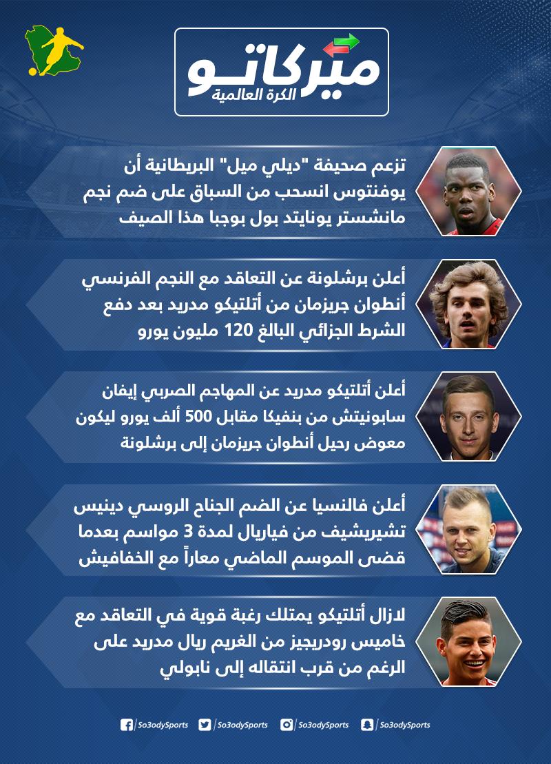 ميركاتو سعودي| أخبار سارة لريال مدريد ويوفنتوس.. وبرشلونة يحسم صفقة جريزمان