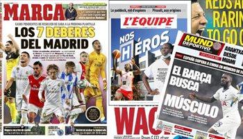 صحف العالم اليوم الخميس.. المهام السبعة لريال مدريد وسانشو يشعل إنجلترا