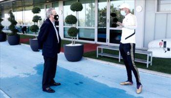 صور| في حضور الرئيس.. ريال مدريد يستعد لعودة الليجا