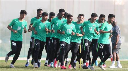 كأس العرب| الأخضر يواصل تدريباته بعد اكتساح فلسطين