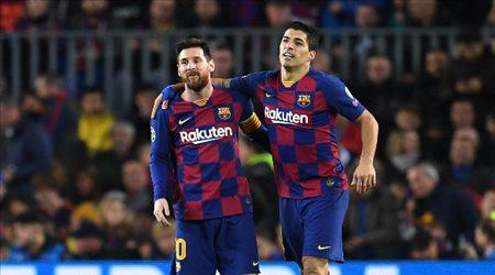 """سواريز """"يفاجئ"""" برشلونة.. ويوجه رسالة غريبة إلى ميسي"""