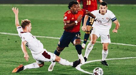إسبانيا تهزم سويسرا بهدف نظيف.. في دوري الأمم الأوروبية