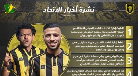 نشرة أخبار الاتحاد  خطاب الفيفا و4 محترفين خارج النادي