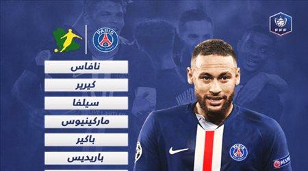 """نيمار يقود رباعي هجومي في تشكيل باريس سان جيرمان ضد إتيان.. بـ""""نهائي كأس فرنسا"""""""