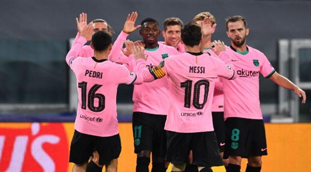 برشلونة من مباراة يوفنتوس