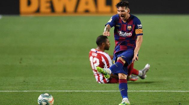 غضب ميسي من مباراة برشلونة وأتلتيكو مدريد