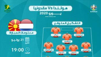 يورو 2020| مقدونيا الشمالية ضد هولندا.. التشكيل المتوقع للطواحين والتوقيت والقناة الناقلة
