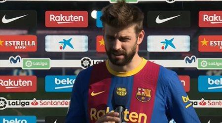 """بيكيه يصدم جماهير برشلونة بعد التعادل أمام أتلتيكو.. """"خسرنا لقب الليجا"""""""