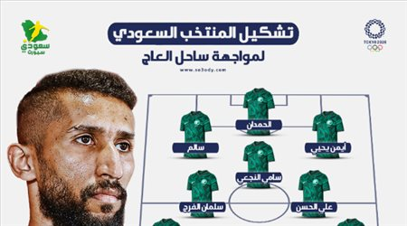 سلمان الفرج يقود تشكيل السعودية الأساسي ضد كوت ديفوار في أولمبياد طوكيو 2020