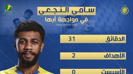 """أرقام """"خرافية"""".. سامي النجعي ينقذ النصر من جحيم أبها"""