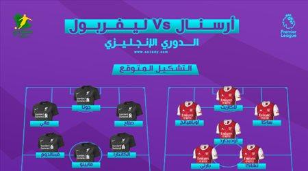 أرسنال ضد ليفربول.. التشكيل المتوقع والتوقيت والقناة الناقلة