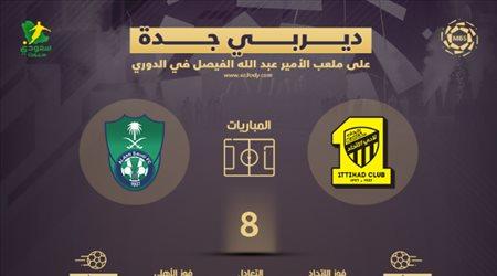 """""""ديربي جدة"""" على ملعب الفيصل.. الاتحاد يكتسح الأهلي ويحتكر التاريخ في الدوري"""