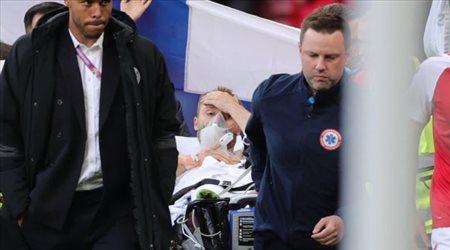 """نقل إيركسين إلى المستشفى في """"حالة حرجة"""" بعد السقوط في يورو 2020"""