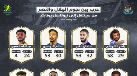 """""""عواجيز"""" الهلال أم """"شباب"""" النصر.. 8 نجوم سعوديين يتنافسون على """"جنة"""" نيوكاسل يونايتد"""